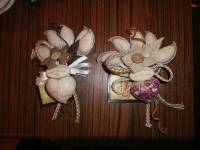Sacchetto fiore stoffa + cuoricino