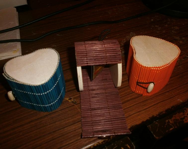 scatole legno cuore