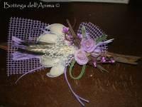 Sacchettino confetti con foglia di cocco