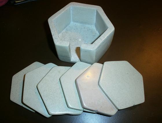 Sottobicchieri esagonali saponaria naturale